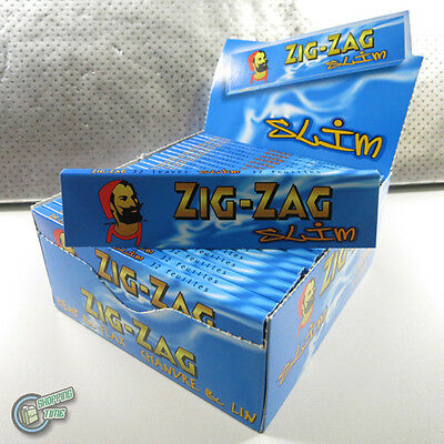 1 box (50 packs) ZIG ZAG Slim Size Cigarette Tobacco Rolling Paper Papers RYO