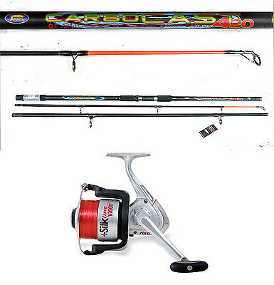 Lineaeffe Carbocast beachcaster/surf rod 14ft 3-7oz carbon & Silk reel combo