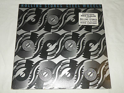 "Rare Rolling Stones - Steel Wheels 'Sample Record' 1989 LP Record 12"" CBS"