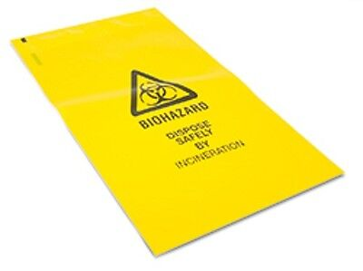 Reliance 4622 Clinical Waste Bag With Adhesive Strip Small 30 X 20Cm X10