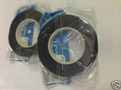 2 rolls x 12mm Florist Stem Tape Ribbon DEEP BROWN 28 yards