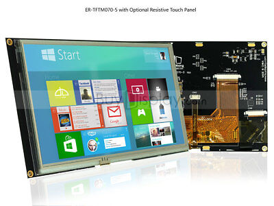 """7"""" 7 inch TFT  LCD Display Module w/R-Touch Screen Panel,I2C,Serial SPI,Tutorial"""