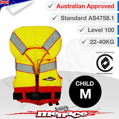 CHILD MEDIUM Life Jacket - Kids Foam Type 1 New Lifejacket Vest PFD1 Level L100