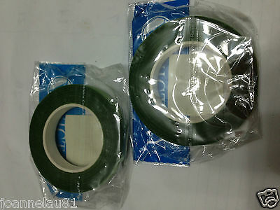 2 rolls x 12mm Florist Stem Tape Ribbon LIG Green 28yds