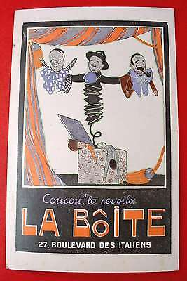 WWI Postcard BLVD DES ITALIENS Paris France LA BOITE Jack Box POLITICAL SATIRE