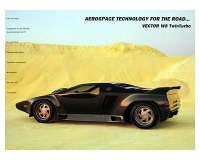 1990 Vector W8 Turbo Photo Poster zc8626