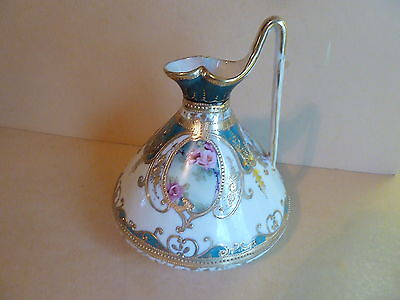 Gorgeous Japan Morimura Noritake Nippon Hand painted Gold Gilt Pitcher Ewer