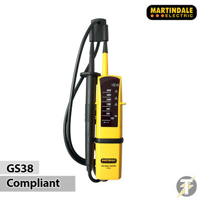 Martindale VT12 Voltage & Continuity 2 Pole Tester / Indicator - GS38 Compliant
