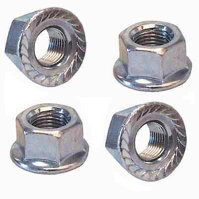 """2 Bicycle Axle Nuts 3//8/""""x26t MotoKing BMX Deez Nuts Red Aluminum Flanged"""