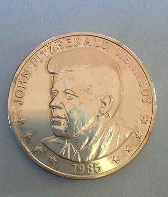 1985 JOHN F KENNEDY 25th ANNIVERSARY 1960-1985 COMMEMORATIVE COIN
