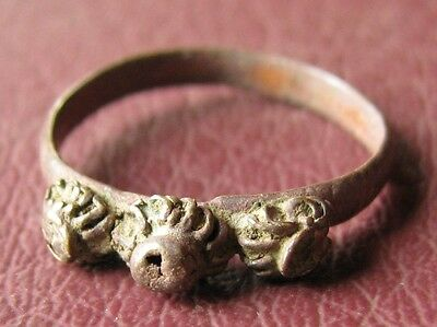 Antique Bronze RING > 19th to early 20th Century Sz: 5 US 15.75mm 11450