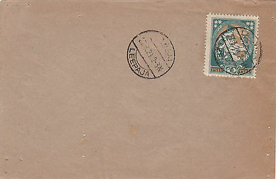 Stamp 1920 Latvia 1r welcoming Latgale on cover postmarked LEEPAJA unuddressed