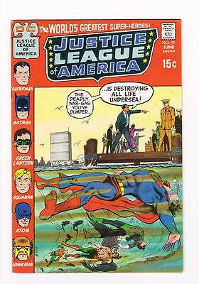 Justice League of America # 90 Destroy all sea Life grade 8.0 scarce hot book !!