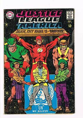 Justice League of America # 57 Thy Name is Brother  grade 4.5 scarce hot book !!