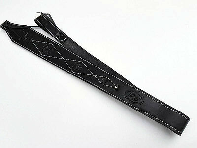 Black Leather Rifle Sling Australian Made  Brand New-