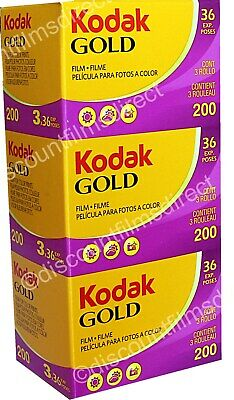 3 x  KODAK GOLD 200 35mm 36exp CHEAP COLOUR CAMERA FILM by 1st CLASS POST
