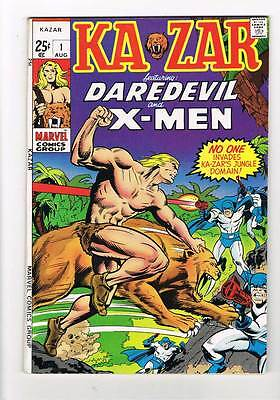 Ka-Zar # 1 (1970)  reprints X-Men # 10, DD # 12  grade 8.5 scarce hot book !!