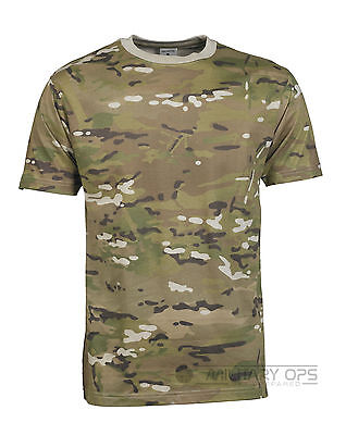 Viper Cotton T-Shirt TACTICAL ARMY STYLE Cotton V-Cam Camouflage MTP Compatible