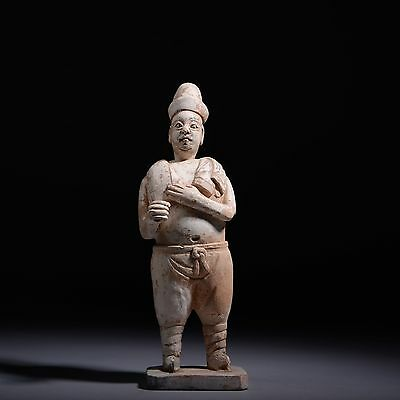 Antique Chinese Ming Dynasty Terracotta Wrestler - 1350 AD