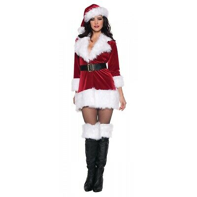 Sexy Santa Outfit Mrs Claus Costume Adult Christmas Fancy Dress