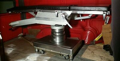 Shampaine Model S-1501 Fully Manual Surgical Table VG Working Condition Lt Rust