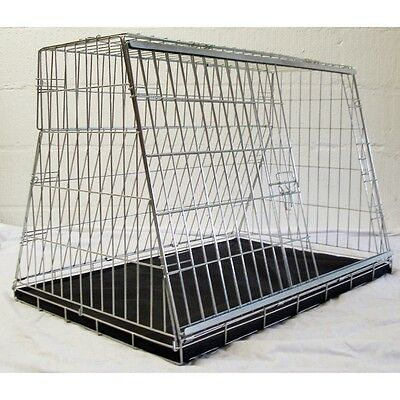 "36"" Car Dog Cage Carrier Guard Puppy Crate Designed For Hatchback & Estate Cars"