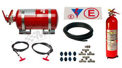 Lifeline FIA Zero2000 4L Mechanical +2.4L Hand Held Fire Extinguisher Plumbed In
