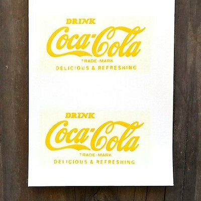 4 Vintage Original Coke COCA COLA SODA Window Decal Sticker Unused NOS 1960s Old