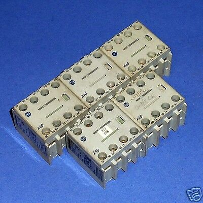 Allen Bradley 10A Auxiliary Contact Block 100-Fa22 Ser. A *lot Of 5*