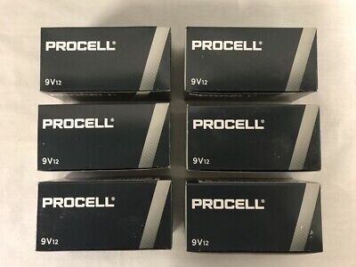 Procell by Duracell PC1604 Alkaline 9V Batteries 72 Batteries 6 Boxes of 12