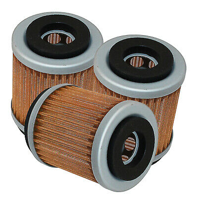 Fits Yamaha Vino 125 Yj125 2004 2005 2006 2007 2009 3-Pack Oil Filters
