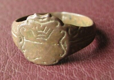 Antique Bronze RING > 19th to early 20th Century Sz: 10 US 19.75mm 11419