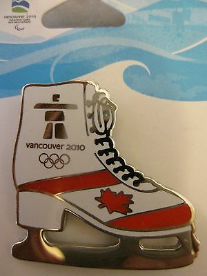 OFFICIAL LICENSED PIN VANCOUVER 2010 WINTER OLYMPICS ICE SKATE w/HOLOGRAM NEW!