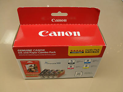 Canon PGI-5BK/CLI-8C/M/Y 4 Pack INK Pt. #0628B027 [AB]; INK CARTRIDGES ONLY