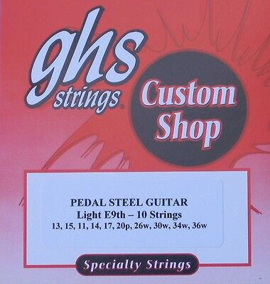 GHS E9th-10 light Pedal Steel Guitar Strings - 1 set