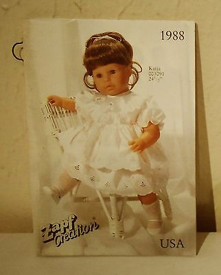 Vintage 1988 ZAPF CREATION (West Germany) Doll Brochure Booklet ~47 color pages