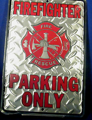 Firefighter Parking Only Parking Sign Quality new  Aluminum embossed diamond