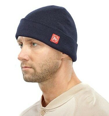 Benchmark FR Clothing.  Beanie Cap. Flame Resistant. Blue
