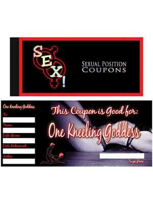 SEX! SEXUAL POSITION COUPONS Naughty Adult Couple Fun Game