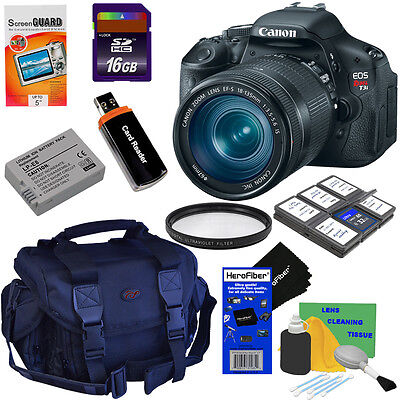 Canon EOS Rebel T3i 18 MP CMOS Digital SLR Camera w/18-135mm Lens + 9 pc Acc Kit