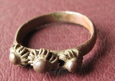 Antique Artifact Bronze RING   19th to early 20th Century Sz: 5 US 15.75mm 11449