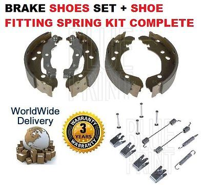 For Nissan Micra K12 Note 2002->On New Rear Brake Shoes Set & Shoe Fitting Kit