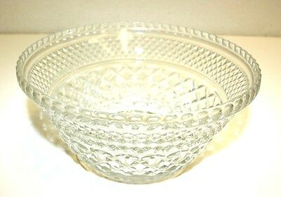 WOW Nice Large Cut Glass Ornate Solid Heavy Fruit Bowl RARE Excellent Condition