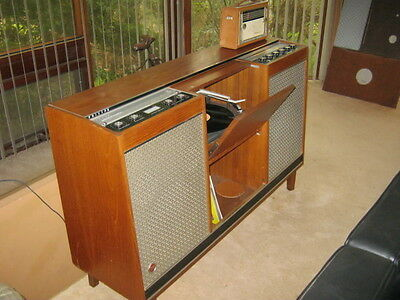 Music Console records stereo funky retro mid century modern Philips Hi Fi Vintag