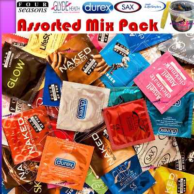 Assorted Bulk Mix Condom Pack Durex Glyde Four Seasons Sax Ansell 100 Condoms