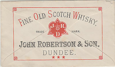 Stamp John Robertson & Son Dundee whisky advertising on NSW double postage cover