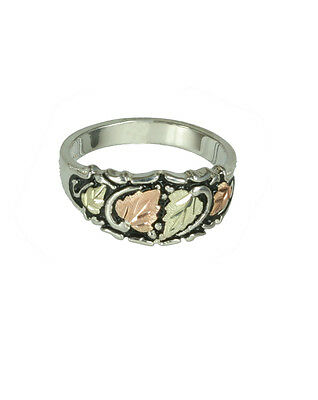 Black Hills Gold~Silver Rings Antiqued A7