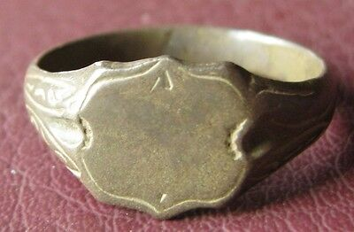 Antique Bronze RING > 19th to early 20th Century Sz: 10 1/4 US 20mm 11475