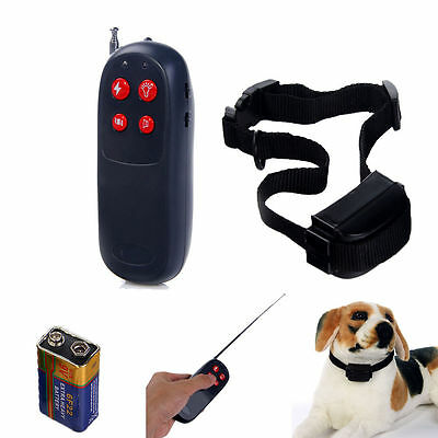 4 in 1 Electronic Remote Small/Large dog Training Collar Vibration + Shock DIS