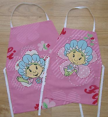 Childrens Pink Cotton Fifi and the Flowertots Apron (Age 4 - 6 or 6 - 8 years)